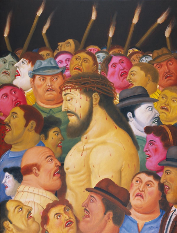 Фернандо Ботеро. Христос и толпа