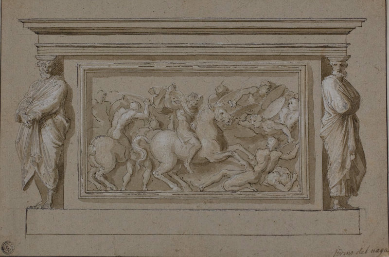 Raphael Sanzio. Sketch for the tomb of the Marquis Francesco Gonzaga