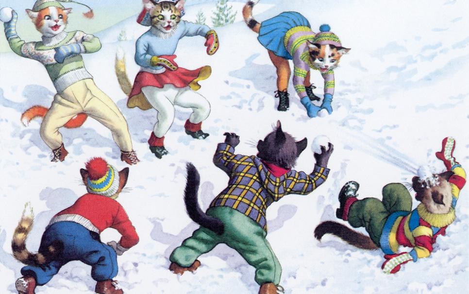 Открытки игра в снежки, картинки города