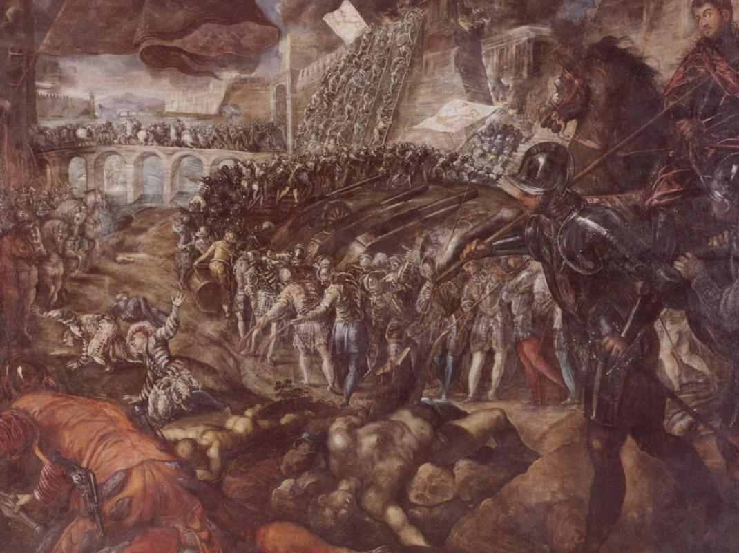 Якопо Тинторетто. Федериго II Гонзага завоевывает Парму