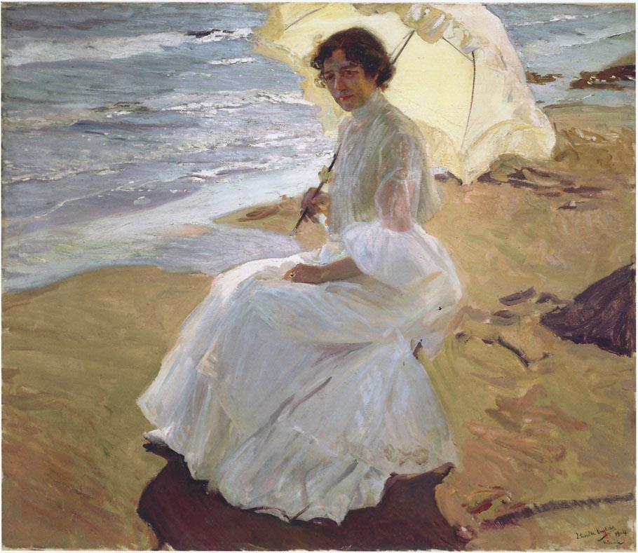 Joaquin Sorolla. Clotilde on the beach