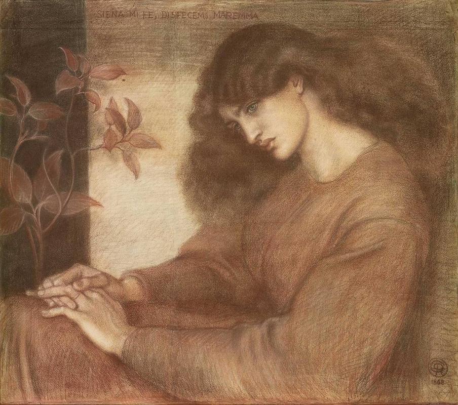 Dante Gabriel Rossetti. Pia de Tolomei (Jane Morris)