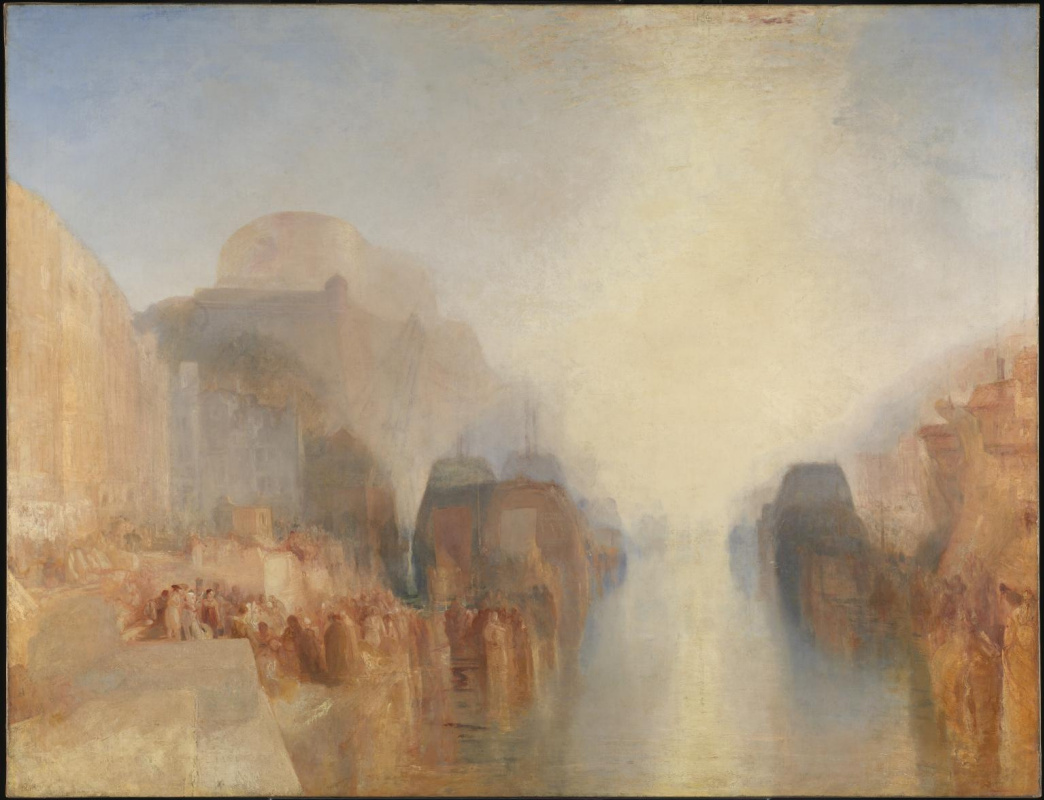 Joseph Mallord William Turner. The harbour of Brest: the quay wall and the castle