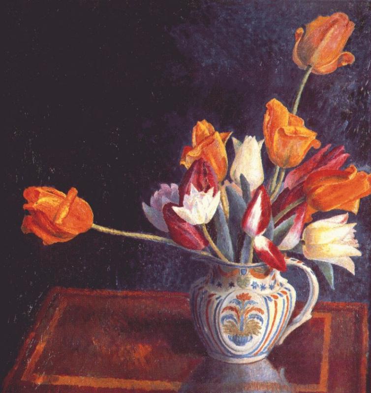 Тюльпаны в кувшине