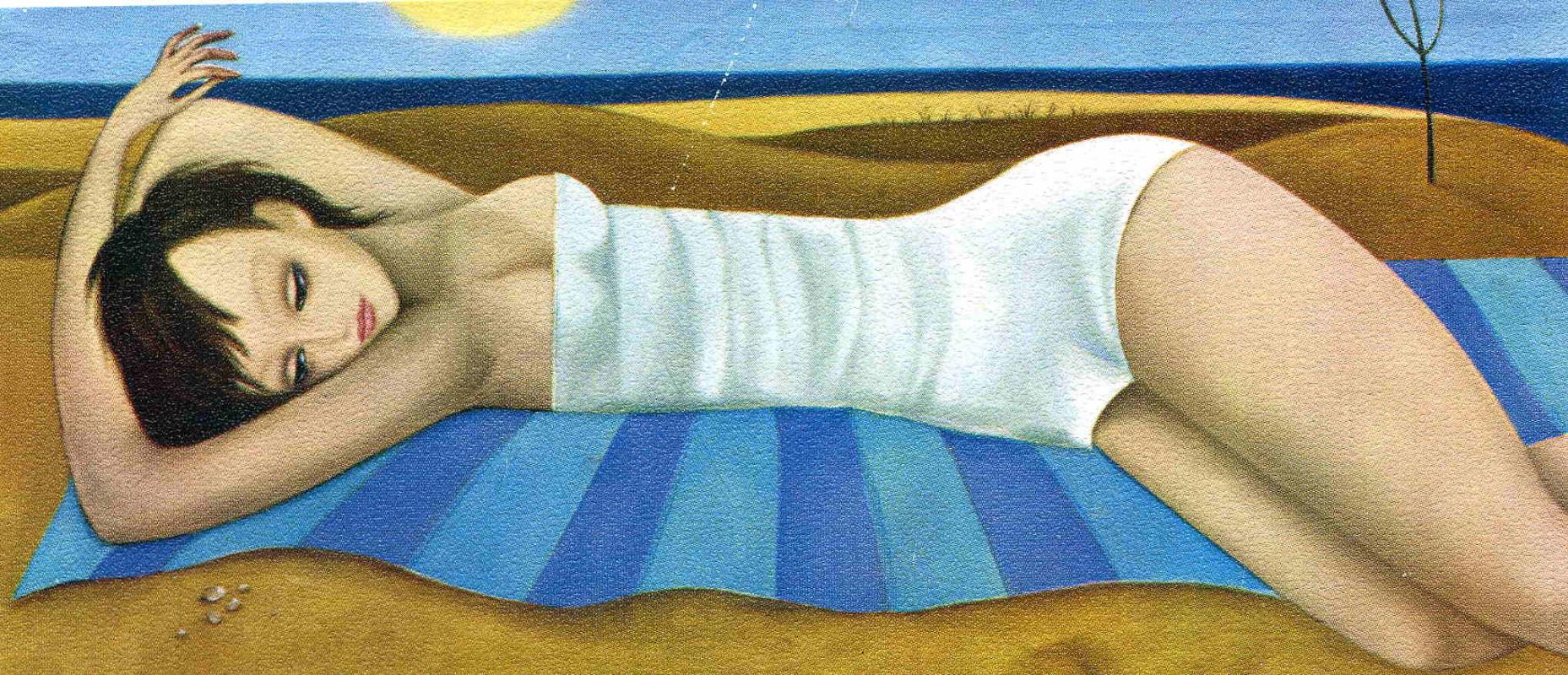 Маргарет Кин. Лежащая девушка