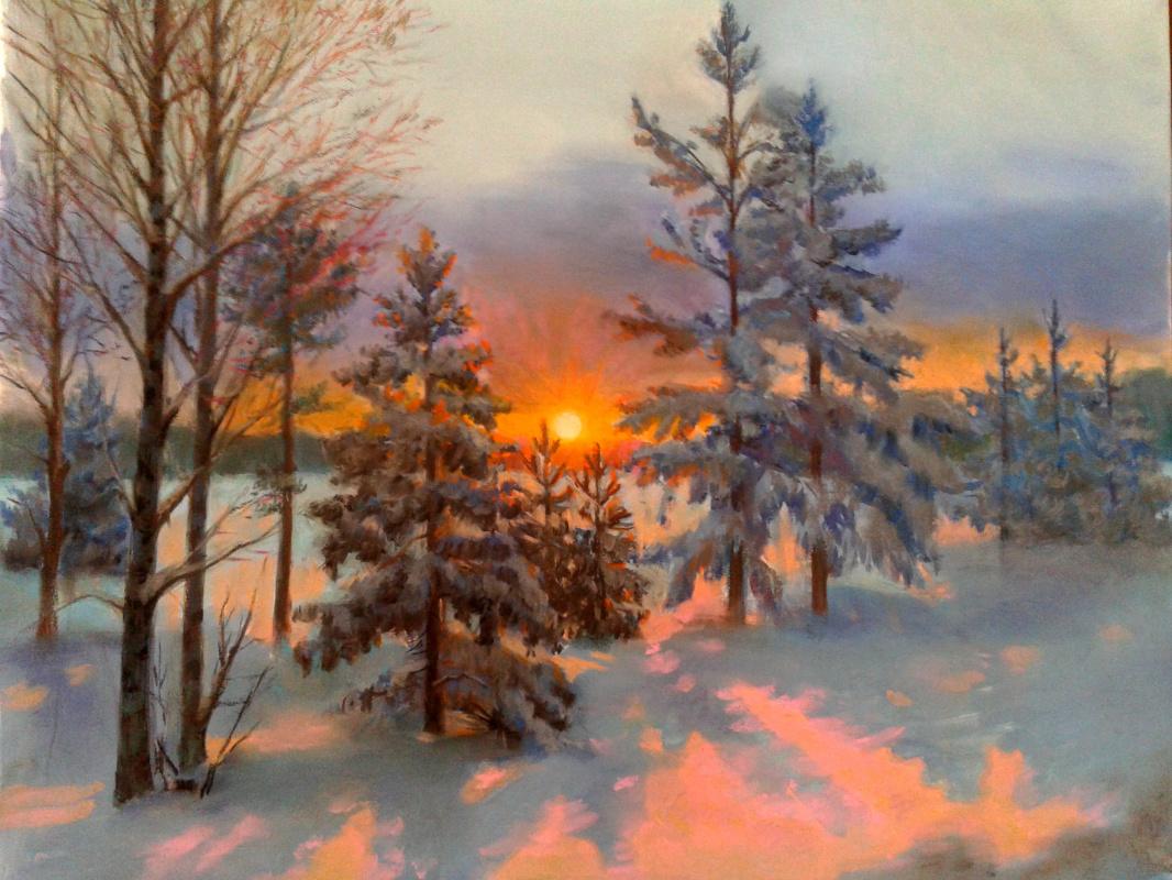 "Polina Vladimirovna Moshkova. ""Winter Sunset"""