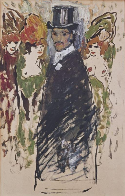 Пабло Пикассо. Автопортрет в цилиндре