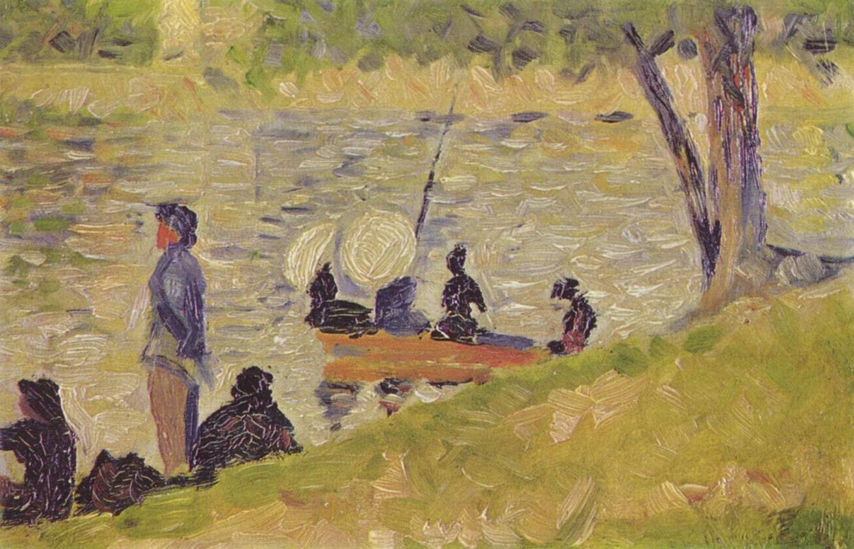 """Georges Seurat. Sketch for """"La Grande Jatte"""""""