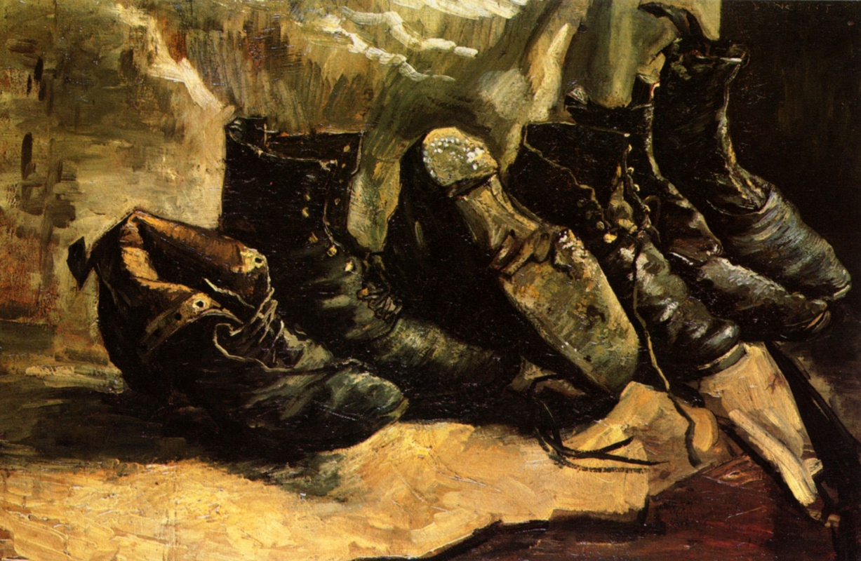 Vincent van Gogh. Three pairs of shoes