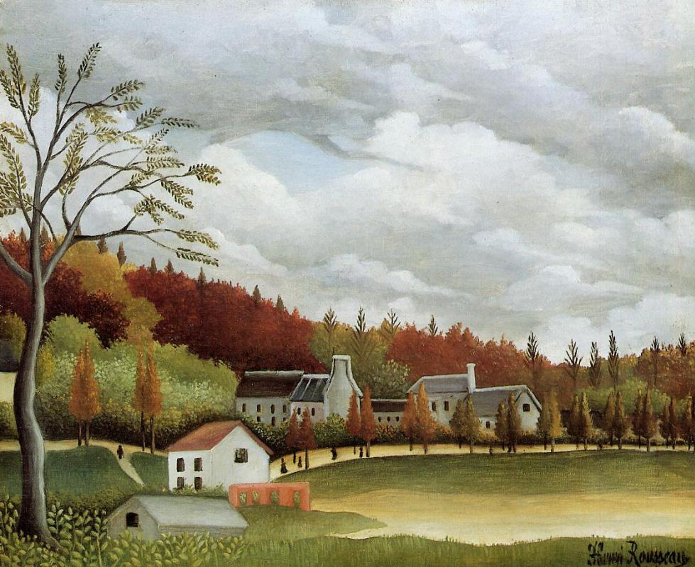 Henri Rousseau. View of Bievre-sur-Gentilly