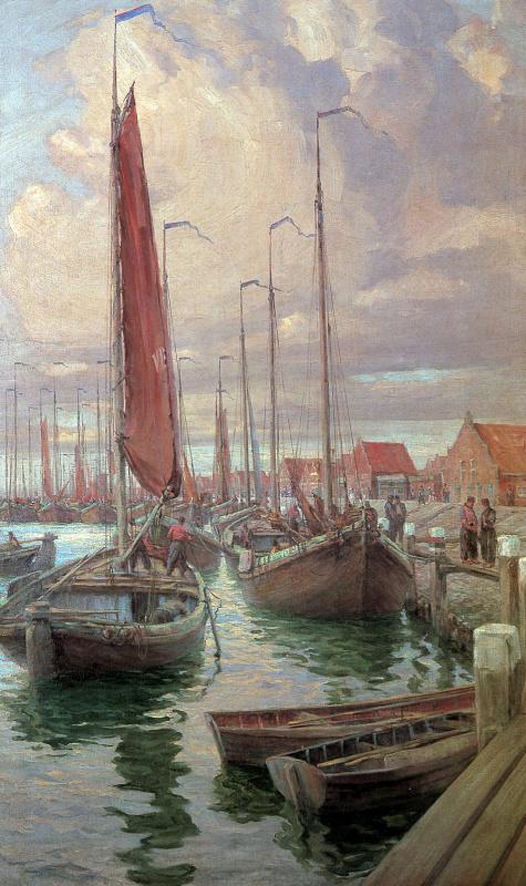 М Рэндалл. Лодки из Волендам