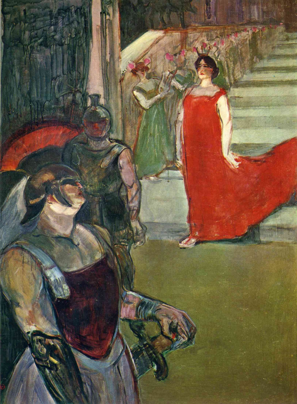 Henri de Toulouse-Lautrec. Scene from the opera Messalina in the opera Bordeaux