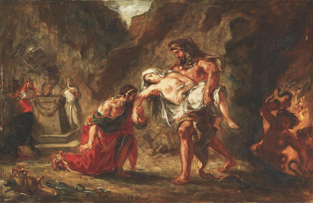 Eugene Delacroix. Hercules and Alcestis