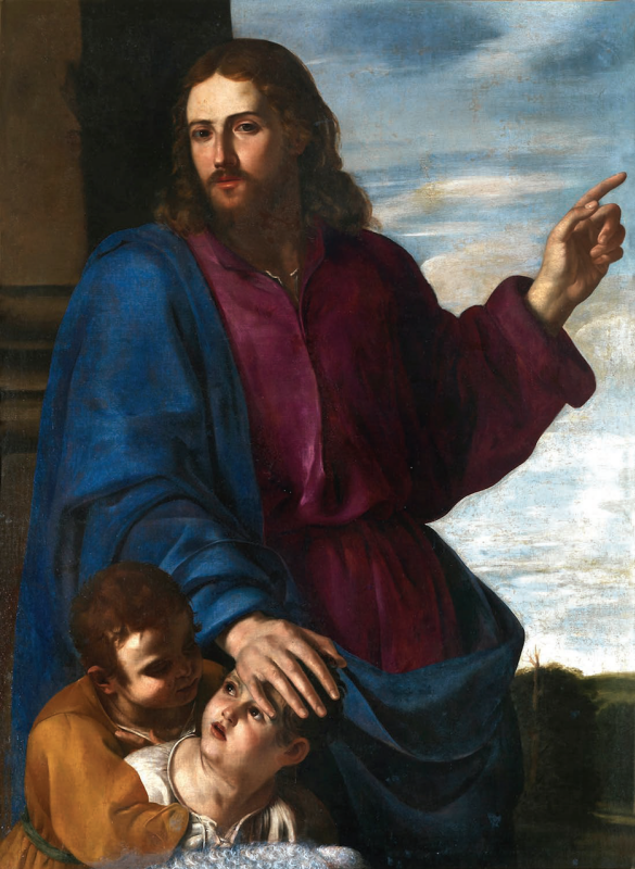 Артемизия Джентилески. Христос благославляет детей