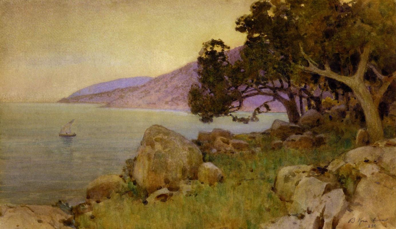 Vasyl Hryhorovych Krychevsky. Bay in Kamysh-Burun