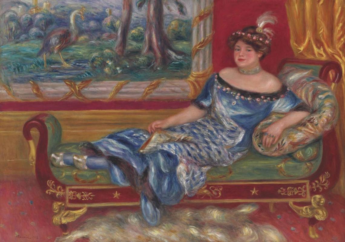 Pierre-Auguste Renoir. Madame de Galea at the meridian