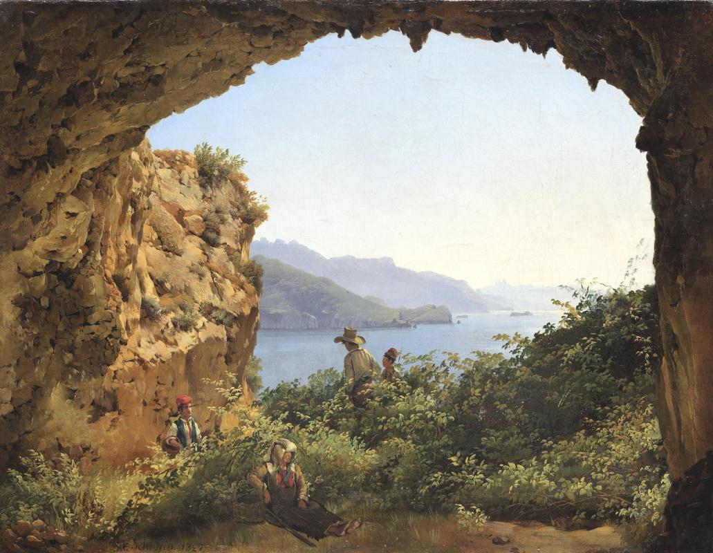 Sylvester Feodosievich Shchedrin. The grotto of Matromanio on the island of Capri