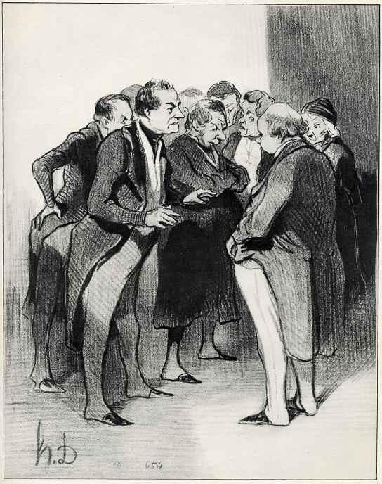Honore Daumier. Gentlemen of the jury