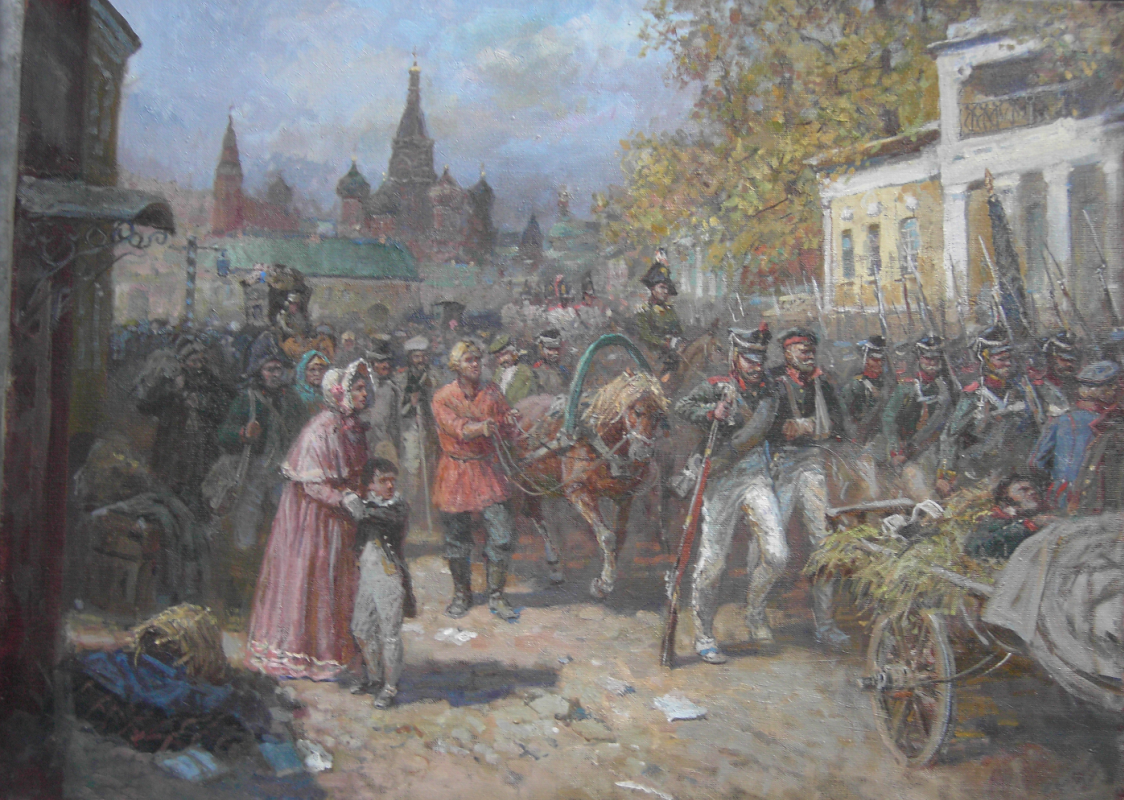 Aleksandr Chagadaev. The abandonment of Moscow in 1812