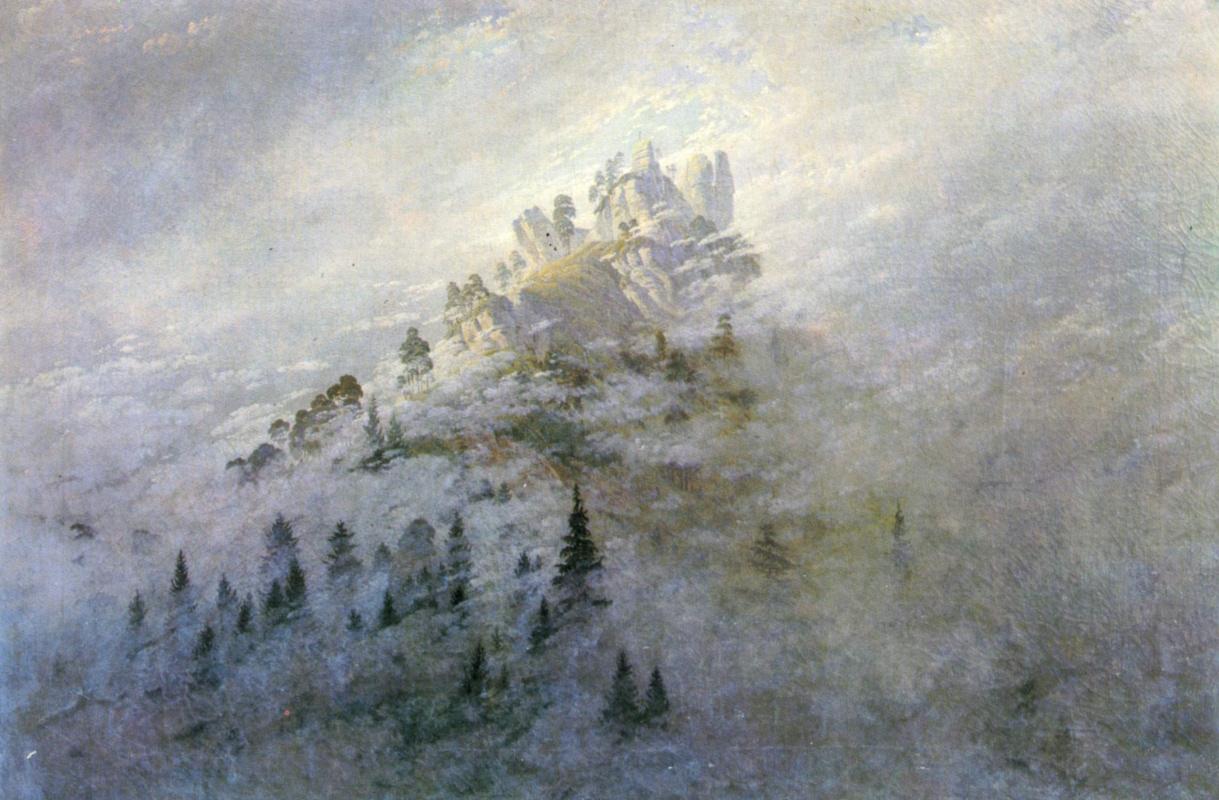 Caspar David Friedrich. Morning fog in the mountains