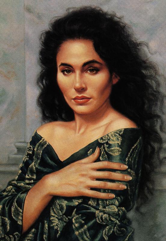 Майкл Тедеско. Портрет женщины с черными волосами