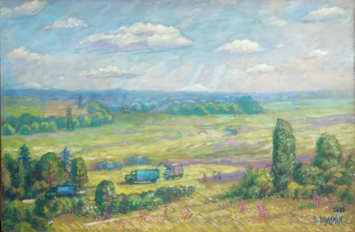 Boris Braynin. Harvesting crops, Zaporozhye