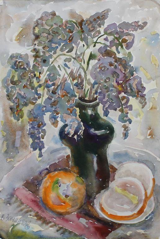 Vasily Nikitovich Zachinaev. Wisteria and grapefruit