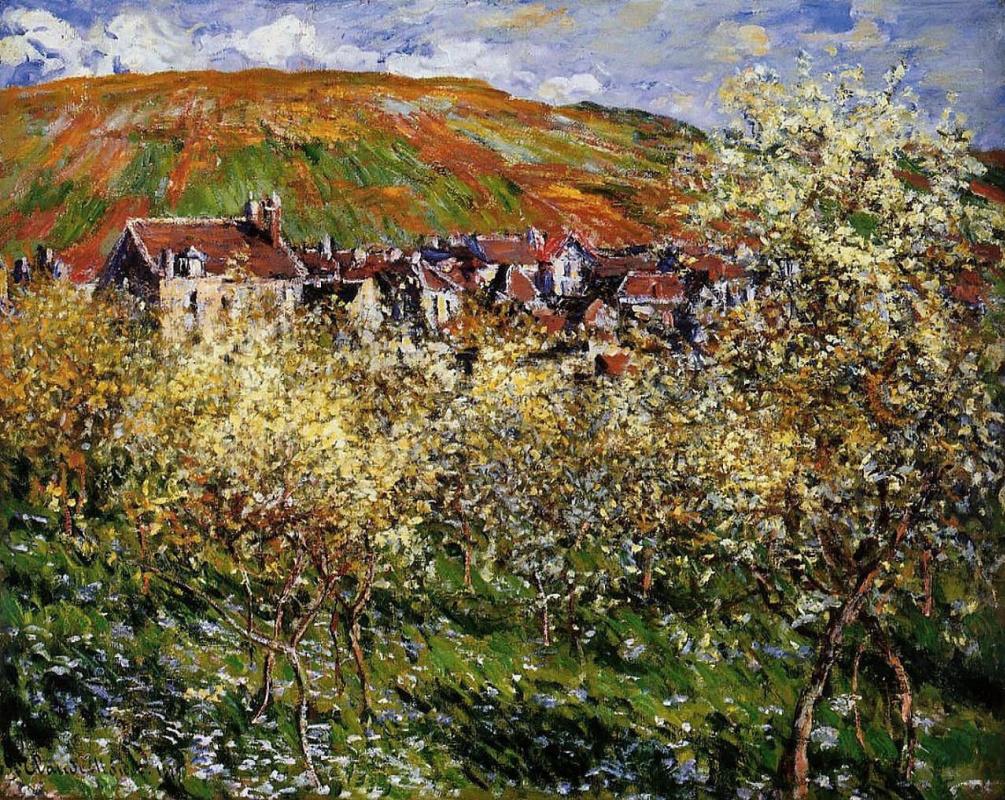 Claude Monet. Plum trees in bloom at Vetheuil