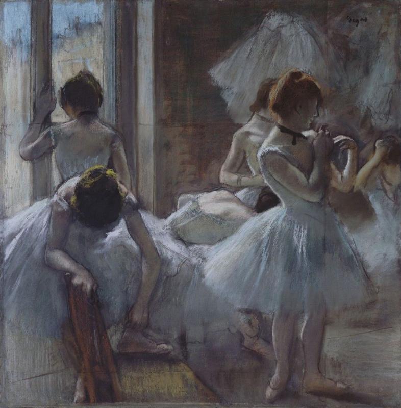 Танцовщицы отдыхают Эдгар Дега 1885