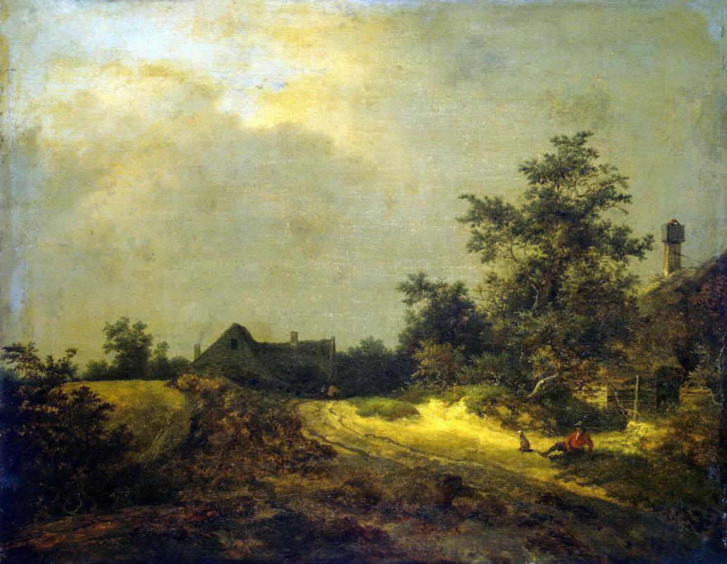 Якоб Исаакс ван Рейсдал. Крестьянские домики в дюнах