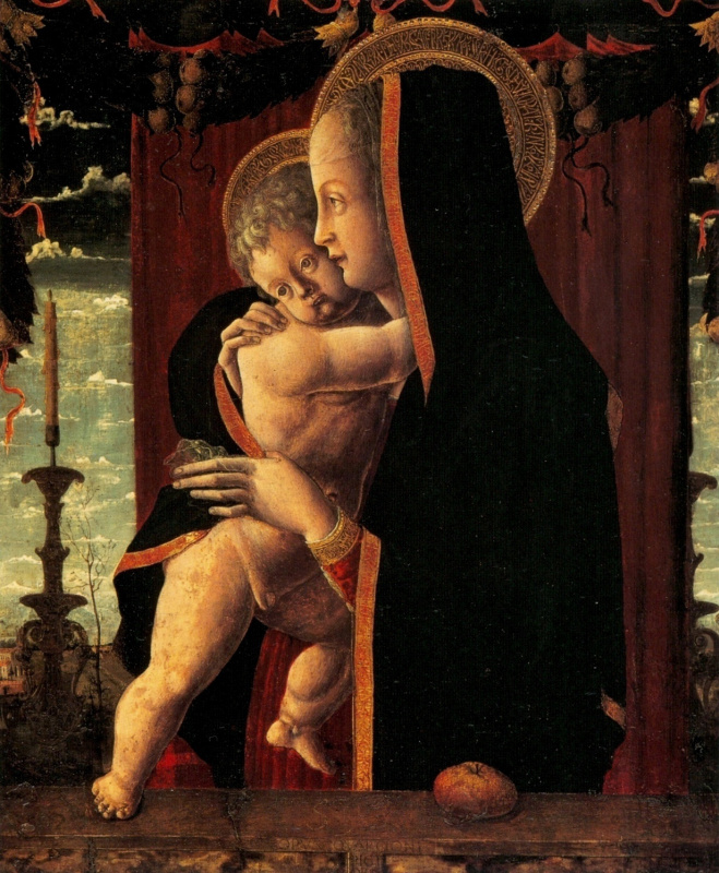 Франческо Скварчоне. Мадонна с младенцем