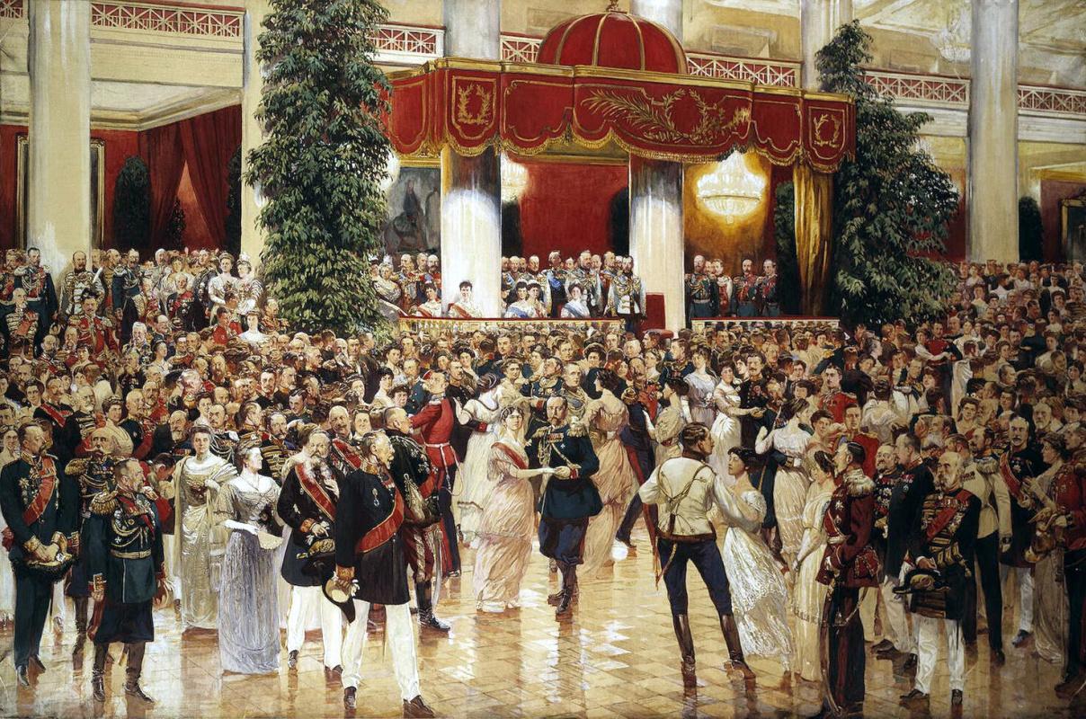 Дмитрий Николаевич Кардовский. Бал в Петербургском Дворянском собрании 23 февраля 1913 года