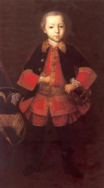 Ivan Yakovlevich Vishnyakov. Portrait of Prince Fedor Nikolaevich Golitsyn in childhood