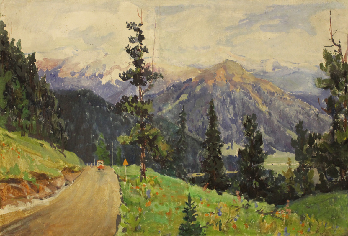 Vasily Fadeevich Demin. The road in Sayan