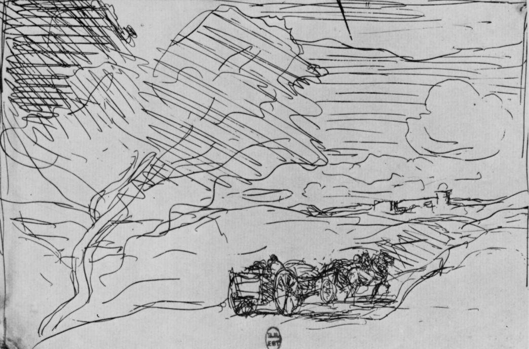 Камиль Коро. Телеги на дороге к городу