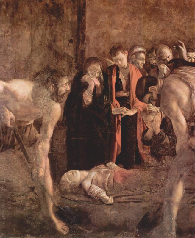 Michelangelo Merisi de Caravaggio. The Burial Of St. Lucia. Fragment