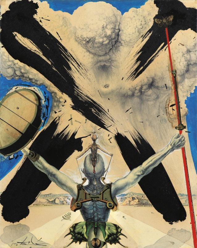 "Salvador Dali. Atomic Era (Illustration for the novel ""Don Quixote"")"
