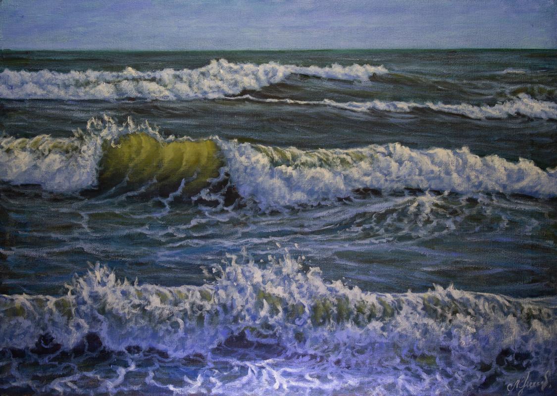 Valery Levchenko. № 605  Морской пейзаж.