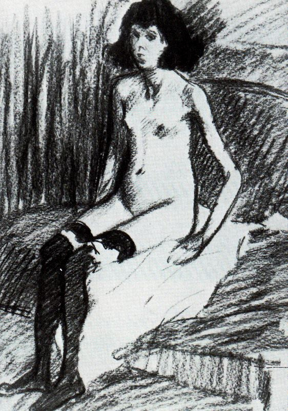 Теофиль-Александр Стейнлен. Женщина в чулках