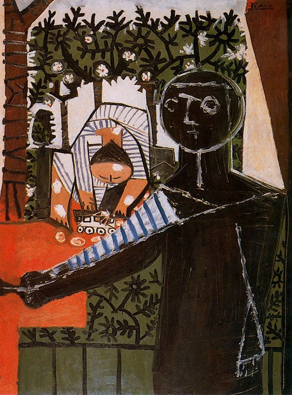 Пабло Пикассо. Палома, играющая во дворе