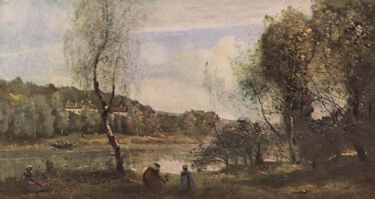 Camille Corot. Pond in Wil d'Avray