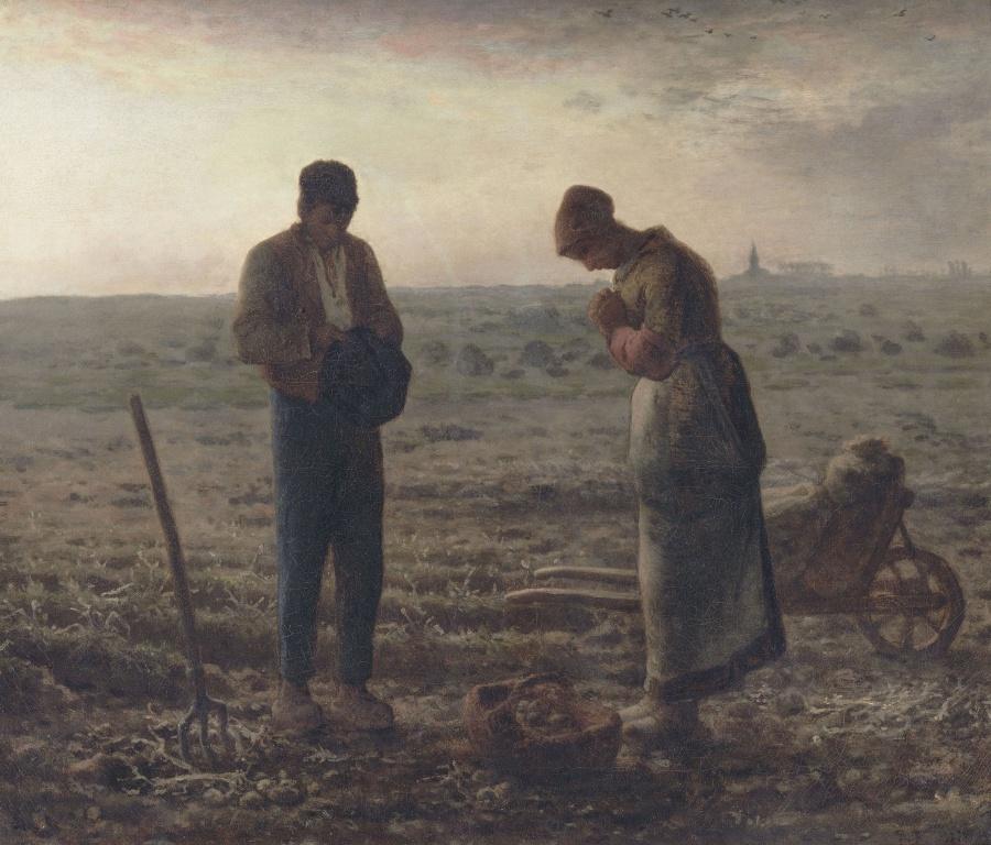 Jean-François Millet. Anzhelyus (Evening prayer)