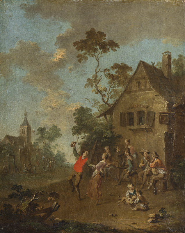 Танец у деревенского трактира