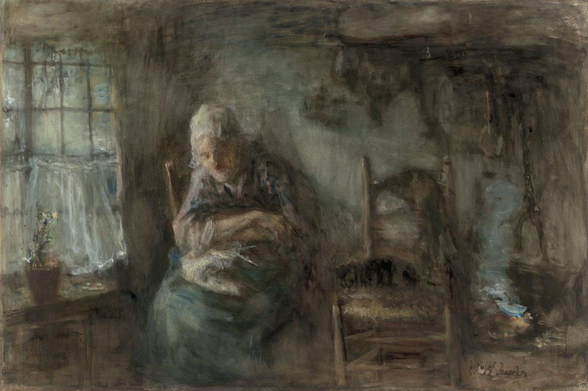 Joseph Israel. Old fisherwoman