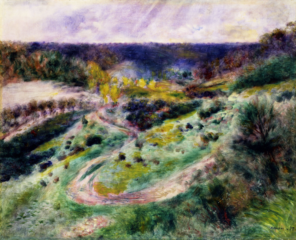 Pierre-Auguste Renoir. Road at Wargemont