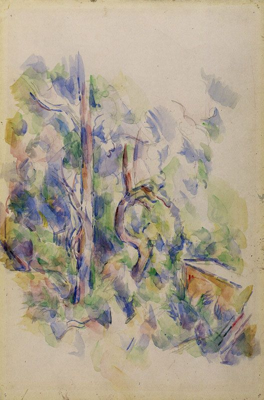 Paul Cezanne. Trees and cistern in the Park of Castle Black