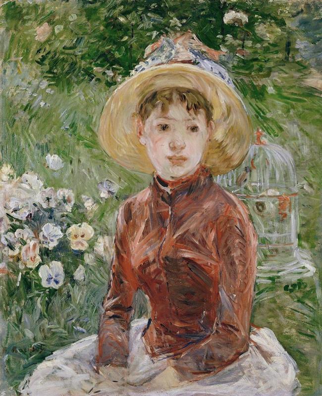 The girl on the grass. Mademoiselle Isabelle Lambert