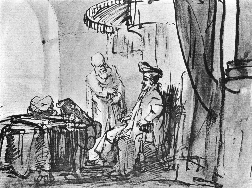 Рембрандт Ван Рейн. Илия пророчествует о Божьем суде