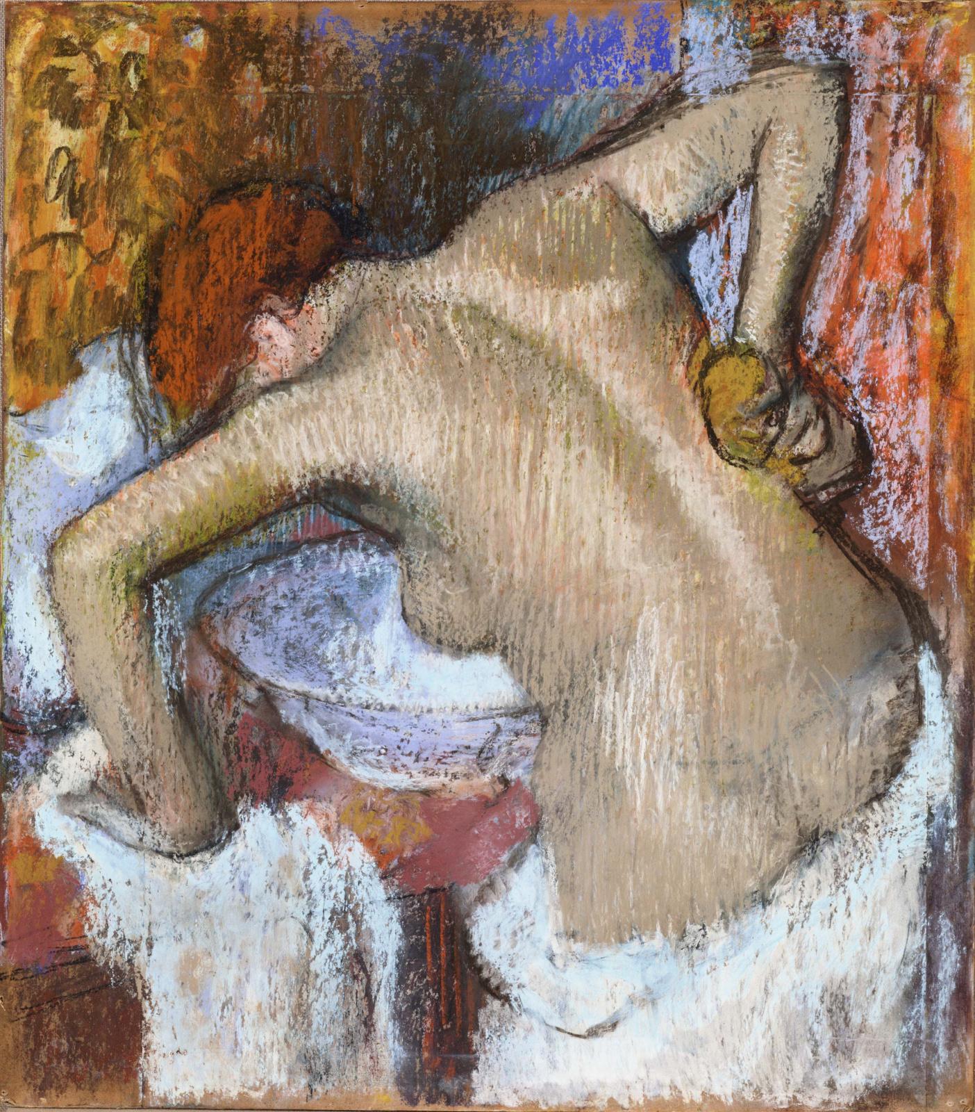 Эдгар Дега. Женщина, намыливающая спину
