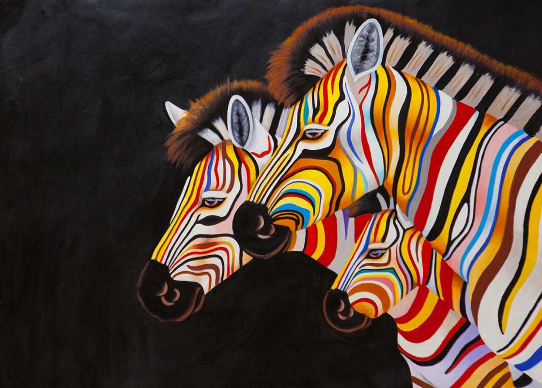 (no name). Multicolored Zebra N5